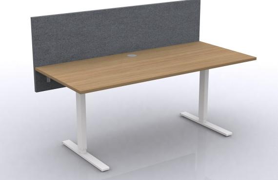 grå bordsskärm med ekskiva